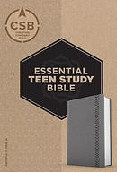CSB Essential Teen Study Bible, Personal Size, Gray