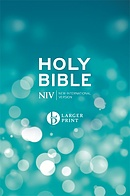 NIV Larger Print Blue Hardback Bible