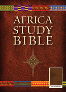 NLT Africa Study Bible, Leather-like, Brown
