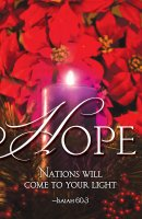 Hope Advent Candle Sunday 1 Bulletin (Pkg of 50)