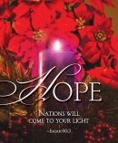 Hope Advent Candle Sunday 1 Bulletin, Large (Pkg of 50)