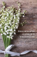 Lily of the Valley Wedding Bulletin (Pkg of 50)