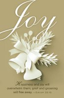 Joy Paper Art Advent Bulletin (Pkg of 50)
