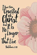 I Have Been Crucified with Christ, and It Is No Longer I That Live: Bible Verse Quote Cover Composition Notebook Portable