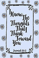 I Know the Thoughts That I Think Toward You: Bible Verse Quote Cover Composition Notebook Portable