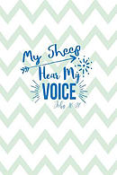 My Sheep Hear My Voice: Bible Verse Quote Cover Composition Notebook Portable