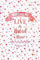 Man Shall Not Live by Bread Alone: Bible Verse Quote Cover Composition Notebook Portable