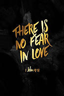 There Is No Fear in Love: Bible Verse Quote Cover Composition Notebook Portable