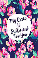 My Grace Is Sufficient for You: Bible Verse Quote Cover Composition Notebook Portable