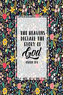 The Heavens Declare the Glory of God: Bible Verse Quote Cover Composition Notebook Portable