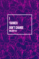 I, Yahweh, Don't Change: Bible Verse Quote Cover Composition Notebook Portable