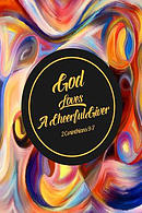 God Loves a Cheerful Giver: Bible Verse Quote Cover Composition Notebook Portable