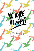 Rejoice Always: Bible Verse Quote Cover Composition Notebook Portable