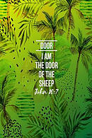 I Am the Door of the Sheep: Names of Jesus Bible Verse Quote Cover Composition Notebook Portable
