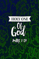 Holy One of God: Names of Jesus Bible Verse Quote Cover Composition Notebook Portable