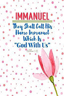 They Shall Call His Name Immanuel, Which Is, God with Us: Names of Jesus Bible Verse Quote Cover Composition Notebook Portable