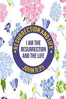 I Am the Resurrection, and the Life: Names of Jesus Bible Verse Quote Cover Composition Notebook Portable