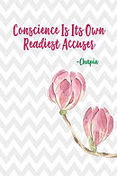 Conscience Is Its Own Readiest Accuser: Cool Journal Blank Lined Notebook Portable