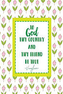 To God, Thy Country, and Thy Friend Be True: Blank Lined Notebook for Notes Portable