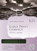 KJV Large Print Compact Bible Bonded Leather Green Snap-flap