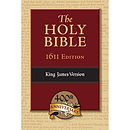 KJV 1611 Bible: Black, Genuine Leather, Apocrypha