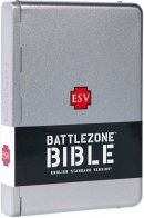 ESV Battlezone Bible: Brushed Aluminum Cross Design, Metal Case