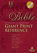 HCSB Giant Print Reference Bible Imitation Leather Black