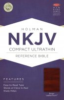 NKJV Compact UltraThin Reference Bible, Brown Imitation Leather