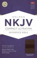 NKJV Compact UltraThin Reference Bible, Brown and Chocolate Imitation Leather