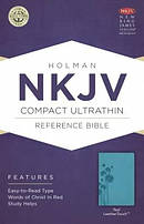 NKJV Compact UltraThin Reference Bible, Teal Imitation Leather