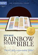 NIV Rainbow Study Bible Brown Bonded Leather