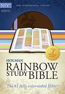 NIV Rainbow Study Bible: Brown and Lavender, LeatherTouch