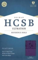 HCSB Ultrathin Reference Bible, Purple Leathertouch