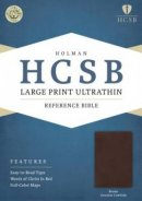 HCSB Large Print Ultrathin Reference Bible, Brown Genuine Co