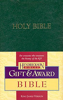 KJV  Gift & Award Bible: Dark Green, Imitation Leather