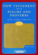 KJV New Testament with Psalms and Proverbs: Tan, Imitation Leather