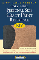 KJV Personal Size Reference Bible: Brown & Tan, Imitation Leather, Giant Print