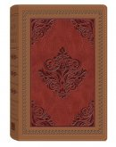 KJV Study Bible Dicarta Imitation Leather Antique Camel Brown