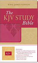 KJV Study Bible: Pink, Imitation Leather