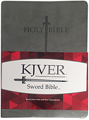 KJVER Sword Value Thinline Bible/Large Print-Grey Ultrasoft