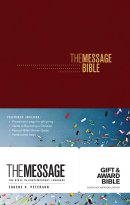 The Message Gift and Award Bible Burgundy