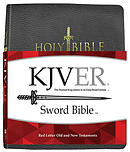 KJV Sword Study Bible Giant Print Black Genuine Leather In