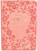 All Things For The Good Pink LuxLeather Journal