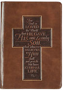 John 3:16 Cross LuxLeather Journal