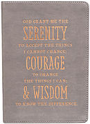 Serenity, Courage And Wisdom LuxLeather Journal