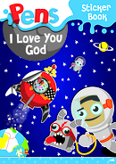 Pens Sticker Book 2: I Love You God