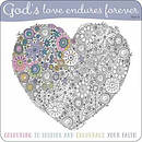 God's Love Endures Forever Colouring Book