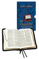 KJV Classic Reference Bible: Black, Calfskin, Thumb Index
