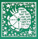 I have come that they may have life (pack of 6 Christmas cards)