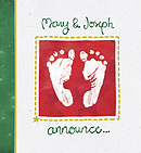 Mary and Joseph Announce the Birth of a Baby Boy Pack of 25